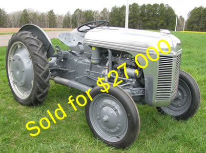 1939 Aluminum hood 9N auctioned off at Union Grove Show for $27,000
